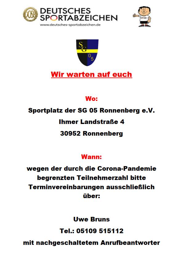 Plakat Sportabzeichen 2020